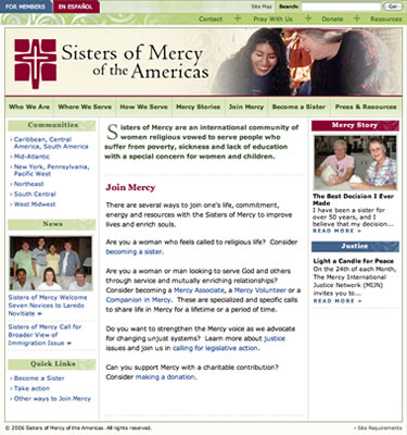Sisters of Mercy - Home page