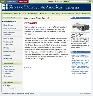 Sisters of Mercy - Members page